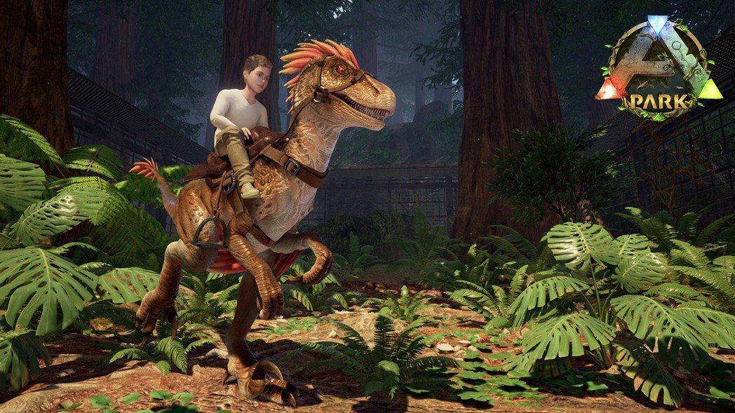 ▲玩家可騎乘恐龍漫步《方舟公園》。