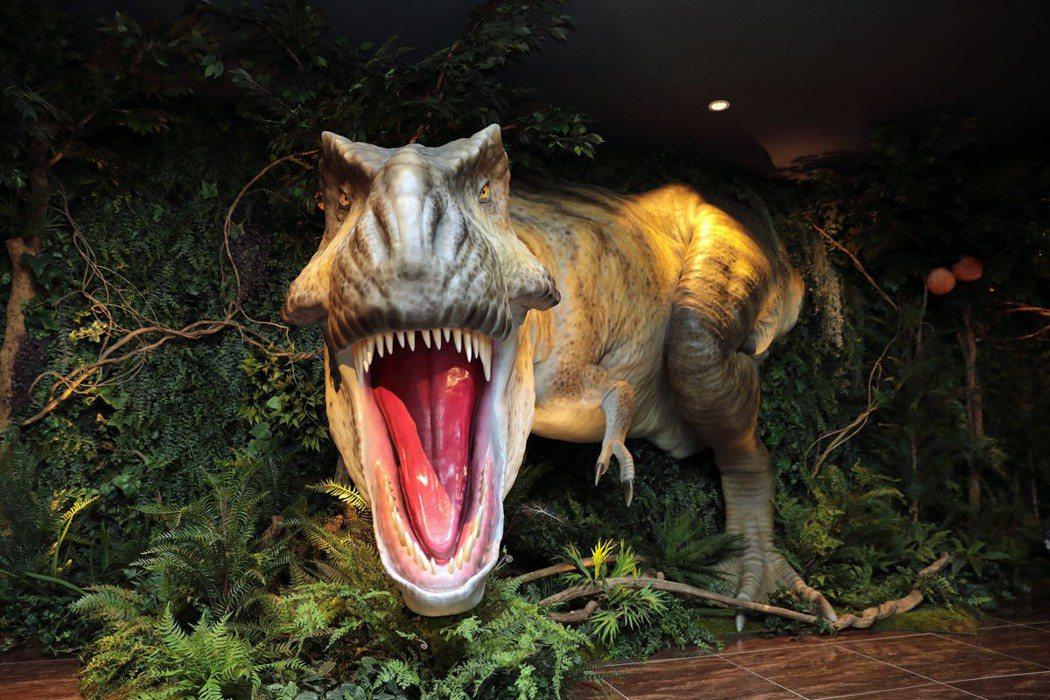 每間店都有不同的「迎賓」恐龍在等你。