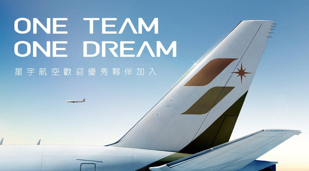 星宇航空總經理翟健華表示,以「One Team One Dream」為號召,期待...