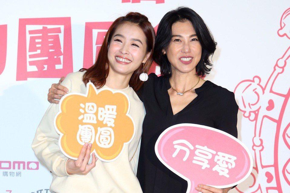 小嫻(左)、徐曉晰當年主持過同一個節目,多年後在愛情上也同樣受了傷。記者陳瑞源/...
