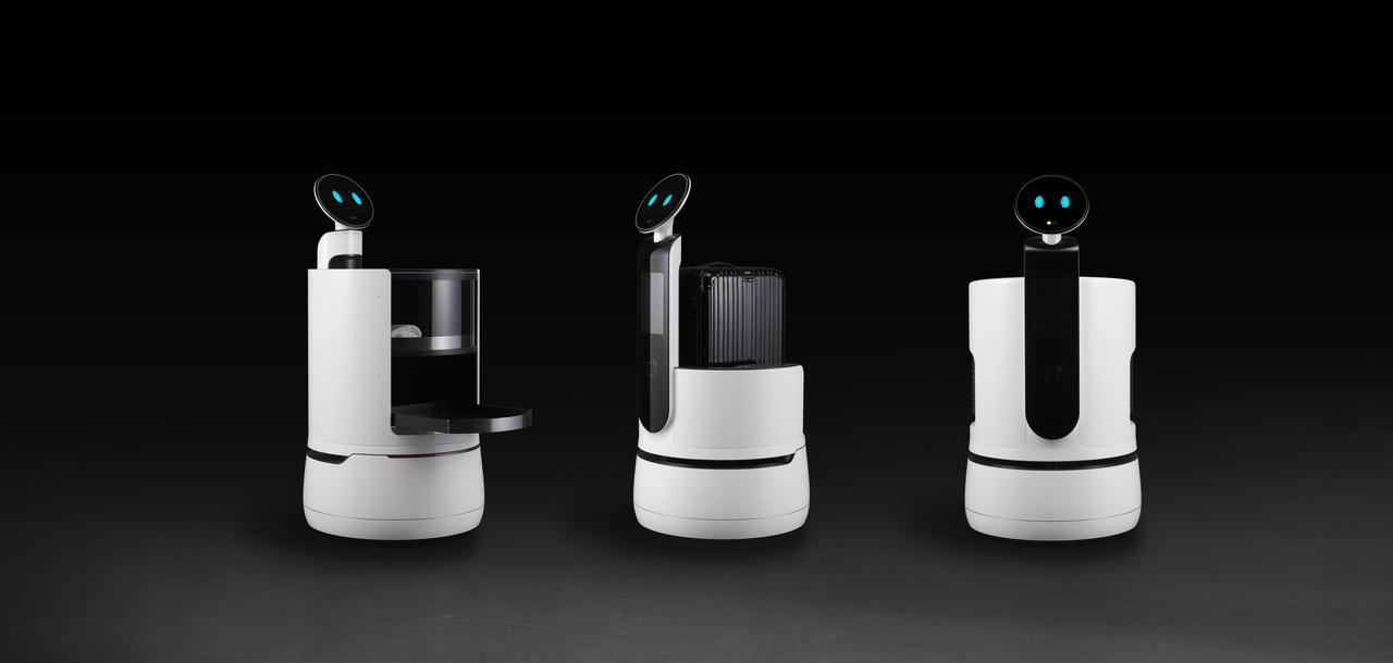 LG於CES美國消費性電子展發表3款專為飯店、超市、機場等商務運用打造的全新機器...