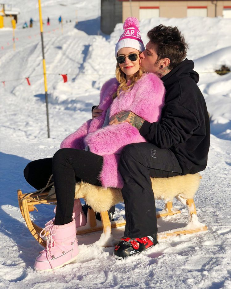 Chiara Ferragni和未婚夫到瑞士過聖誕假期。圖/擷自instagra...