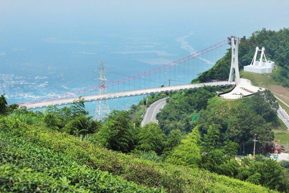 太平雲梯是全台最高又最長的觀景橋。(攝影/陳德偉)