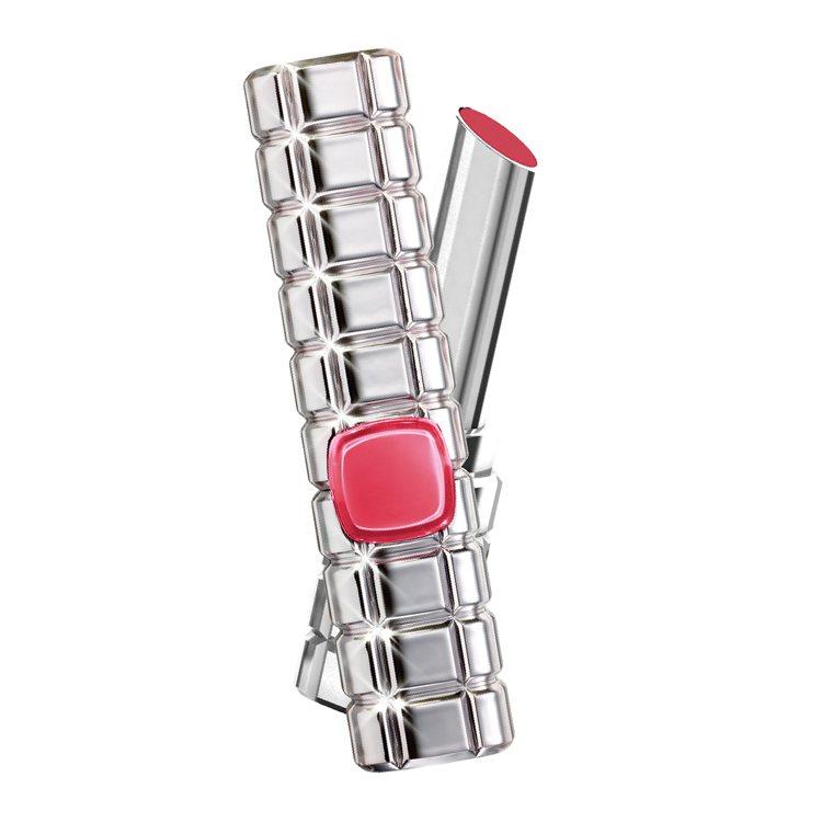 巴黎萊雅絕對情迷鏡面唇膏主打色#911鎂光燈聚焦,售價420元。圖/巴黎萊雅提供