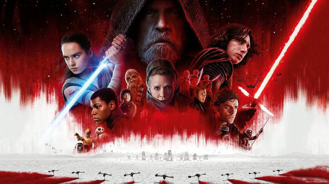 「Star Wars:最後的絕地武士」大陸首映票房沒有拿下冠軍。圖/摘自imdb