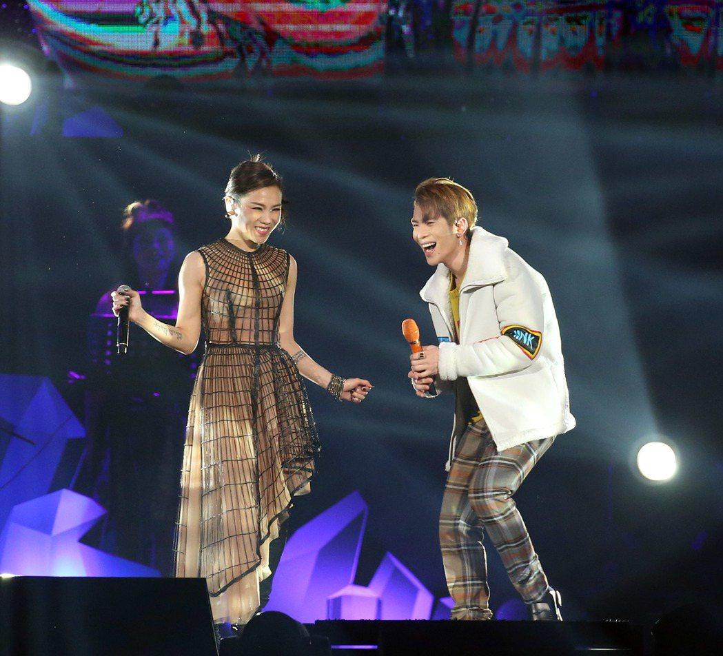 蔡健雅嘉賓找來蕭敬騰(右)。記者陳瑞源/攝影