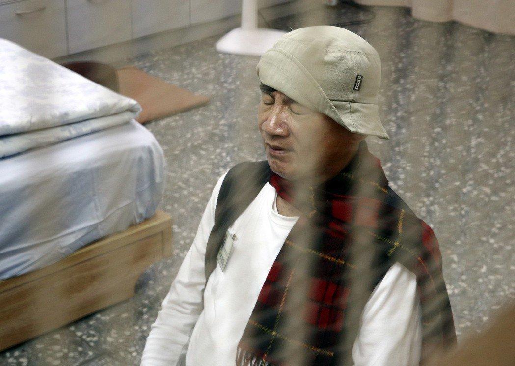 2014年林義雄在台北市義光教會禁食,力促核四停建。 圖/聯合報系資料照片