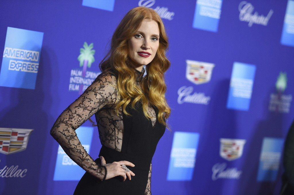 為了力挺反性騷訴求,包括潔西卡雀絲坦(圖)在內的許多影星都將穿著黑衣出席金球獎。