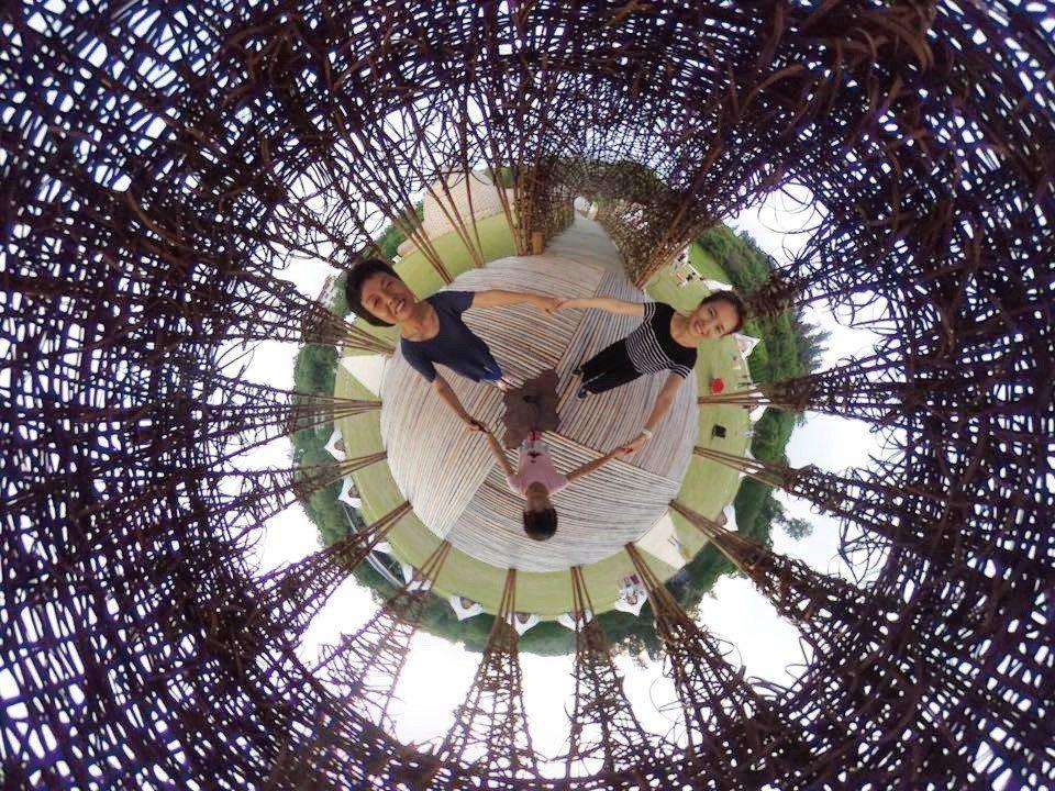 由山那村所提供的勤天幕360度自拍照。(圖片來源/《劉太太和你露營趣》)