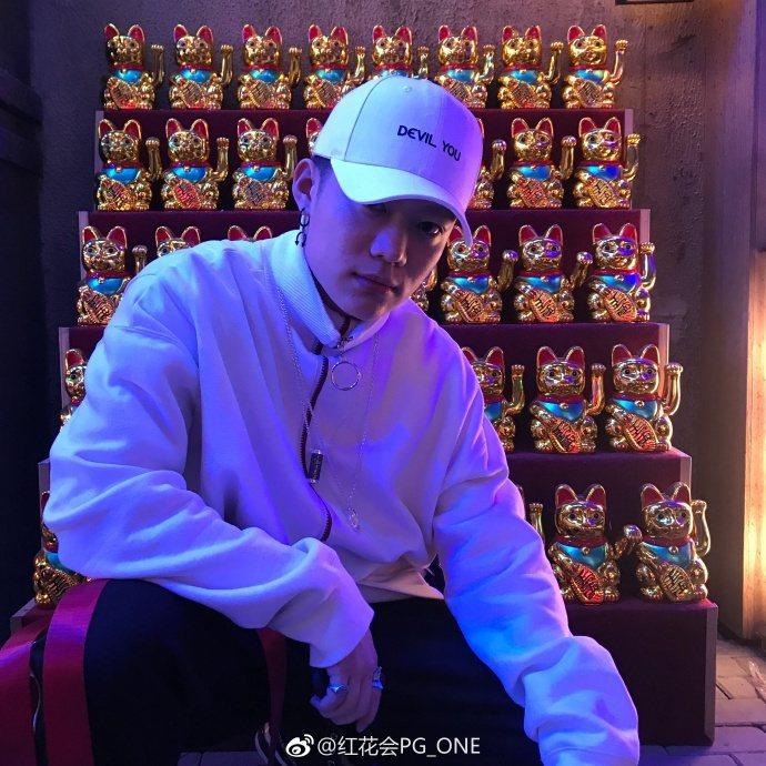 PG One是「中國有嘻哈」選手。圖/摘自微博