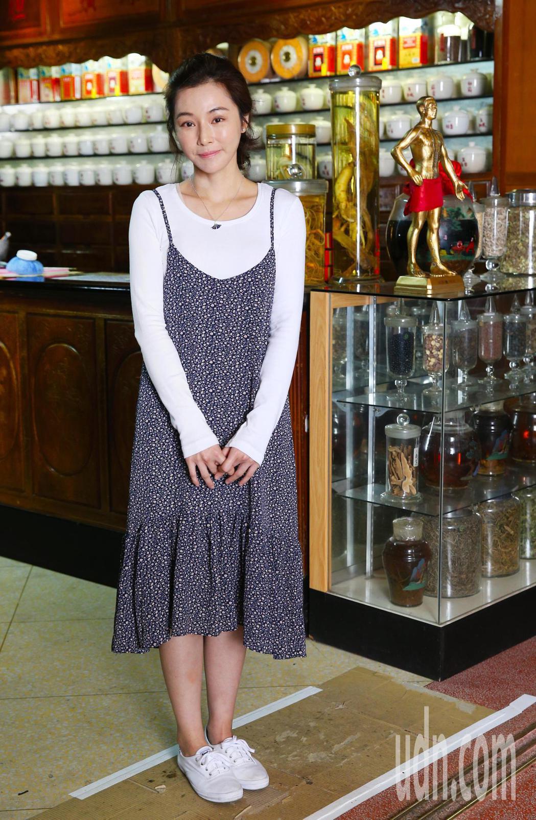 《雙城故事》在迪化街中藥堂取景,演員陳怡蓉出席。記者陳正興/攝影