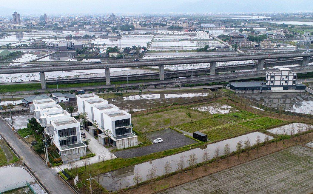 宜蘭農舍空拍。 圖/聯合報系資料照片