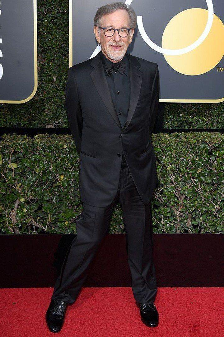 大導演史蒂芬史匹柏加入呼籲關注了性騷擾的議題的行列中,以黑色正式禮服現身。圖/摘...