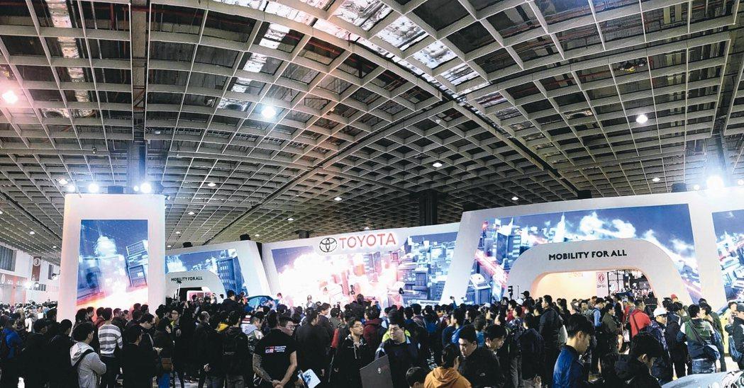 台北車展本屆參觀人潮創新紀錄,突破27萬人次。 和泰車/提供
