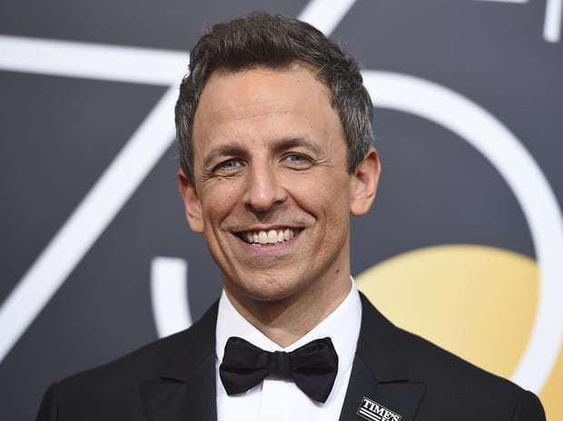 本屆金球獎主持人美國國家廣播公司深夜脫口秀節目主持人賽斯梅爾妙語挖苦好萊塢的性別