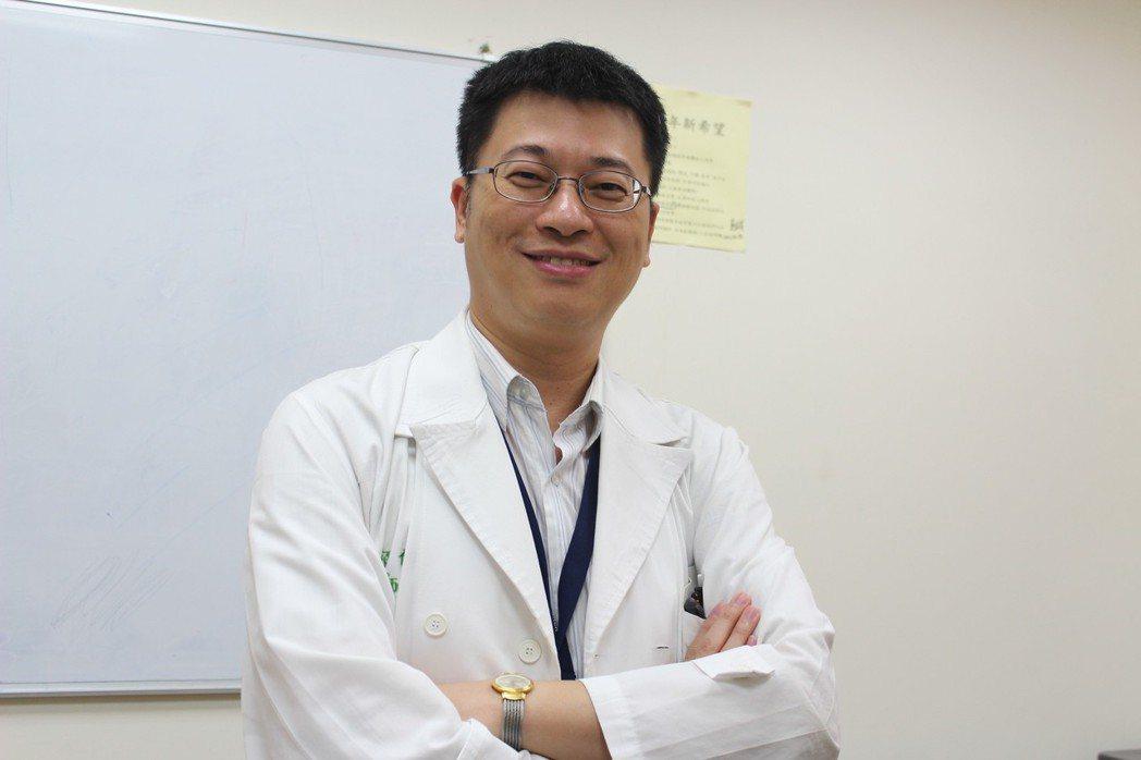 台大醫院新竹分院心臟內科賴超倫醫師。 吳佳汾/攝影