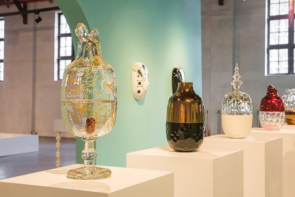 《巴卡拉水晶糖果罐》系列作品。圖:時藝多媒體提供。