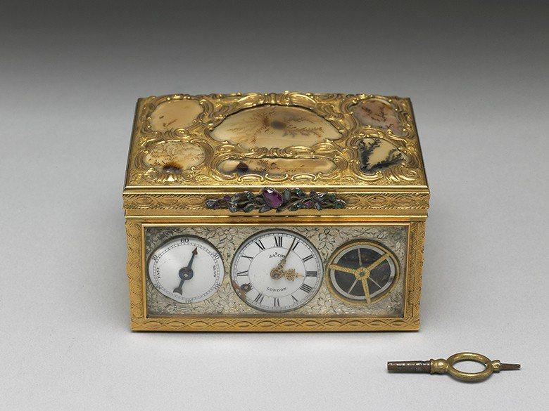 乾隆收藏的製錶大師James Cox製作的鼻煙盒。