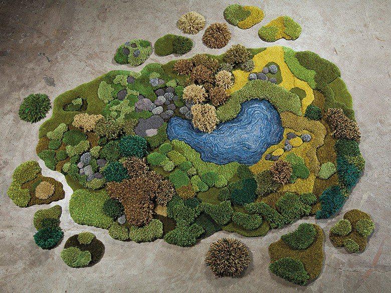「Pastizal」作品編織出理想中的森林湖國。