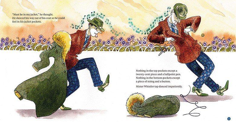 賴嘉綾新書《什麼這麼好笑?繪本職人的 閱讀地圖3》內收錄的《口哨先生》(Mist...