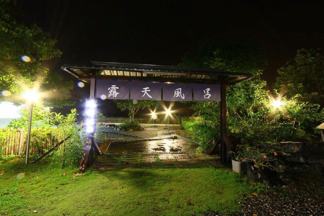 瑞峰溫泉民宿露天風呂。圖/瑞峰溫泉民宿提供。