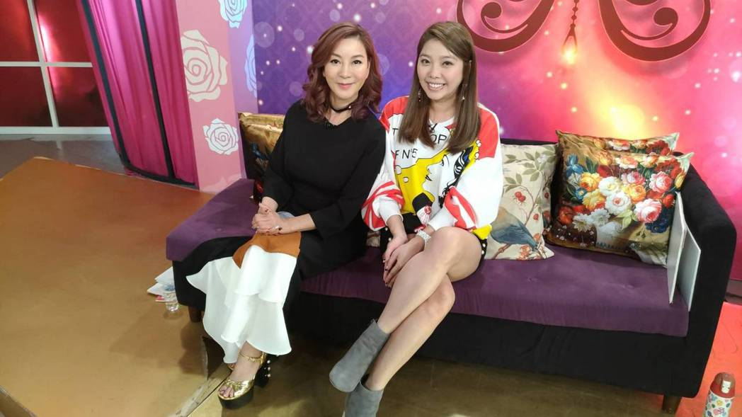 楊繡惠跟Mei今天一起錄影。記者李姿瑩/攝影