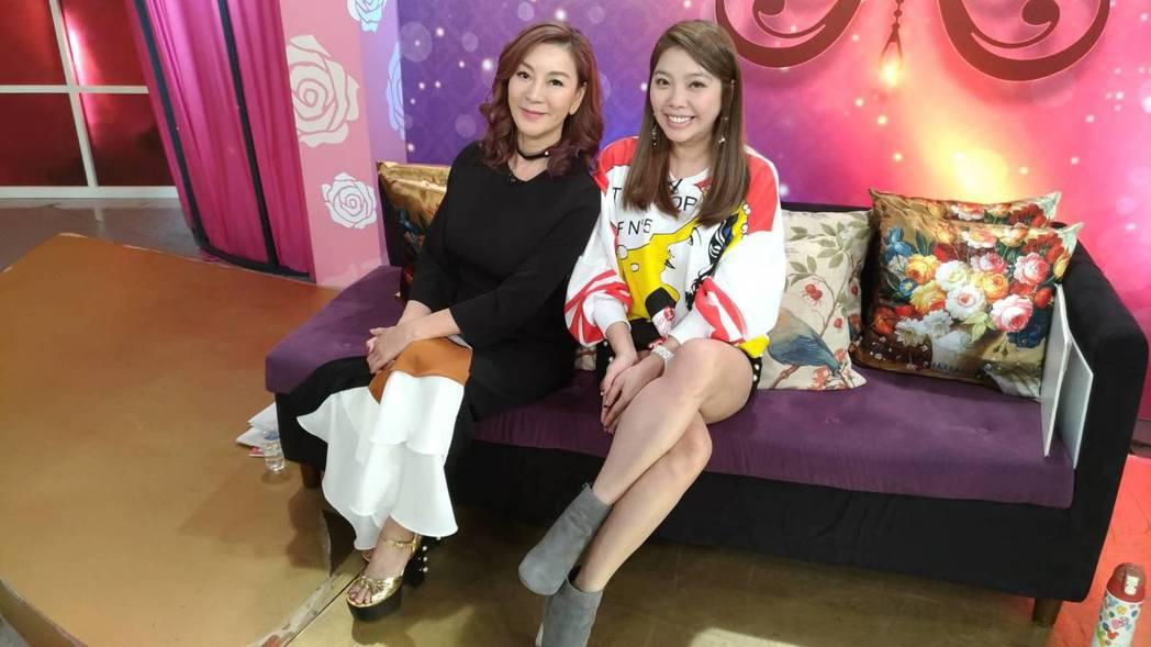 Mei今天和楊繡惠一起錄影。記者李姿瑩/攝影