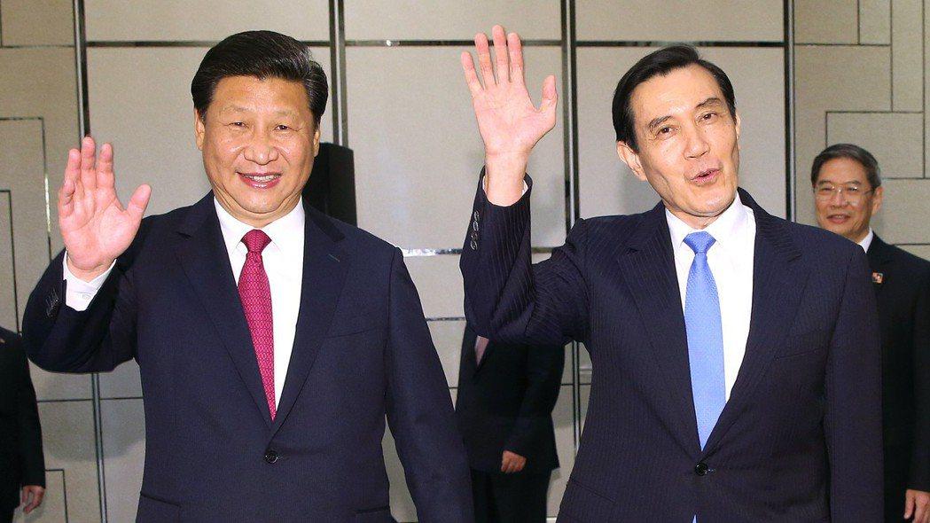 中國國家主席習近平(左)、前總統馬英九 報系資料照