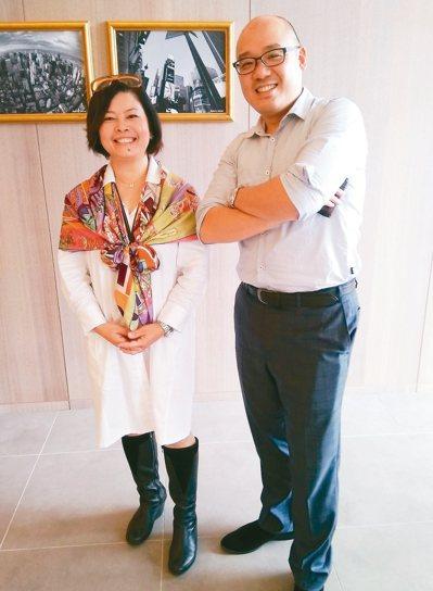 華泰集團副董兼執行長陳炯福(右)與華泰名品城總經理梁曙凡(左) 何秀玲/攝影