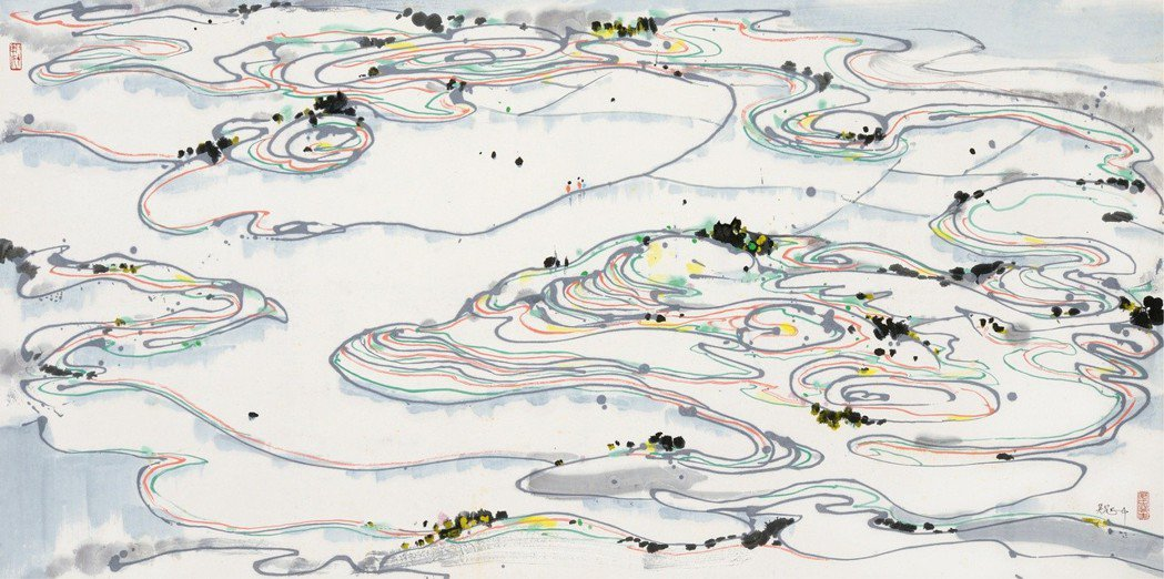 吳冠中作品油彩木板「風景」以160萬元人民幣成交。 上海朵雲軒/提供