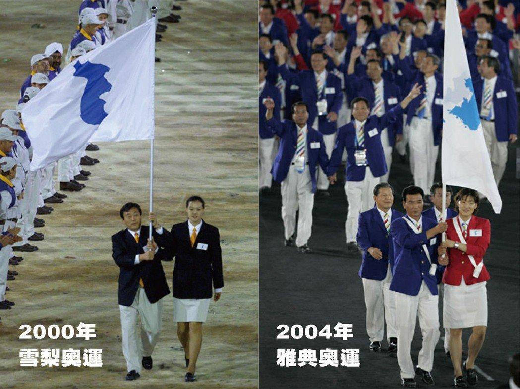 2000年雪梨奧運、2004年雅典奧運時,南北韓選手共同拿「半島旗」進場。  ...