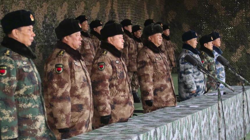 中共中央軍委主席習近平(香港01報導照片)