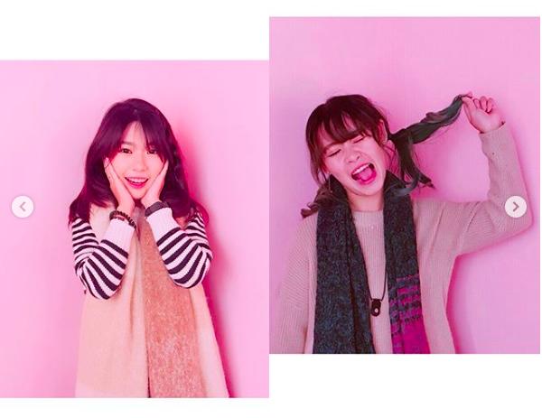 粉紅牆就是最夢幻的背景。圖/IG帳號:shiauruo授權提供