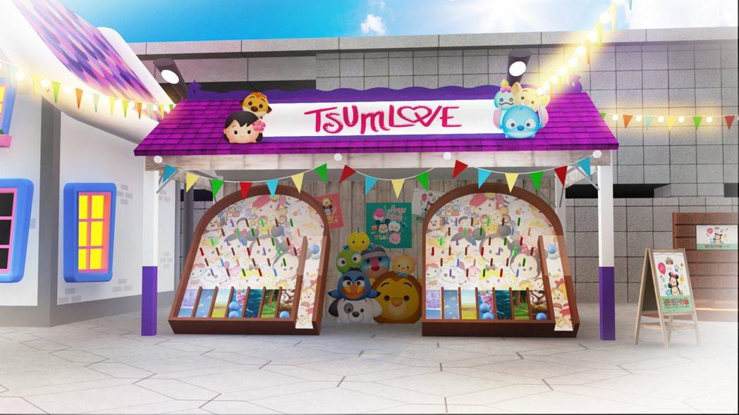 TSUM TSUM 玩轉彈珠台模擬圖。圖/台北101提供