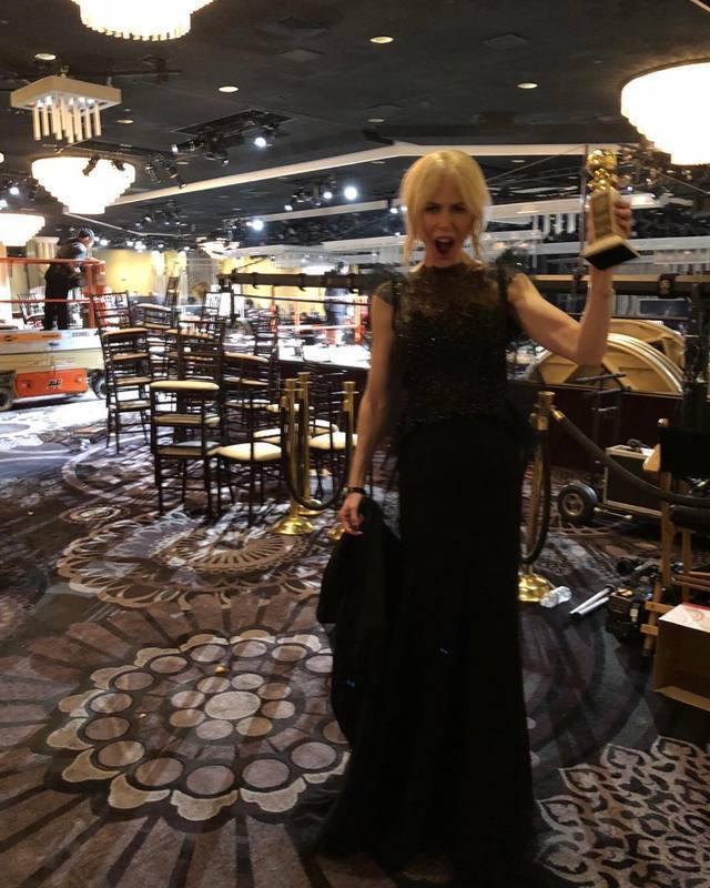妮可基嫚以「美麗心計」首獲金球獎視后,她開心首度啟用instagram,與粉絲分...