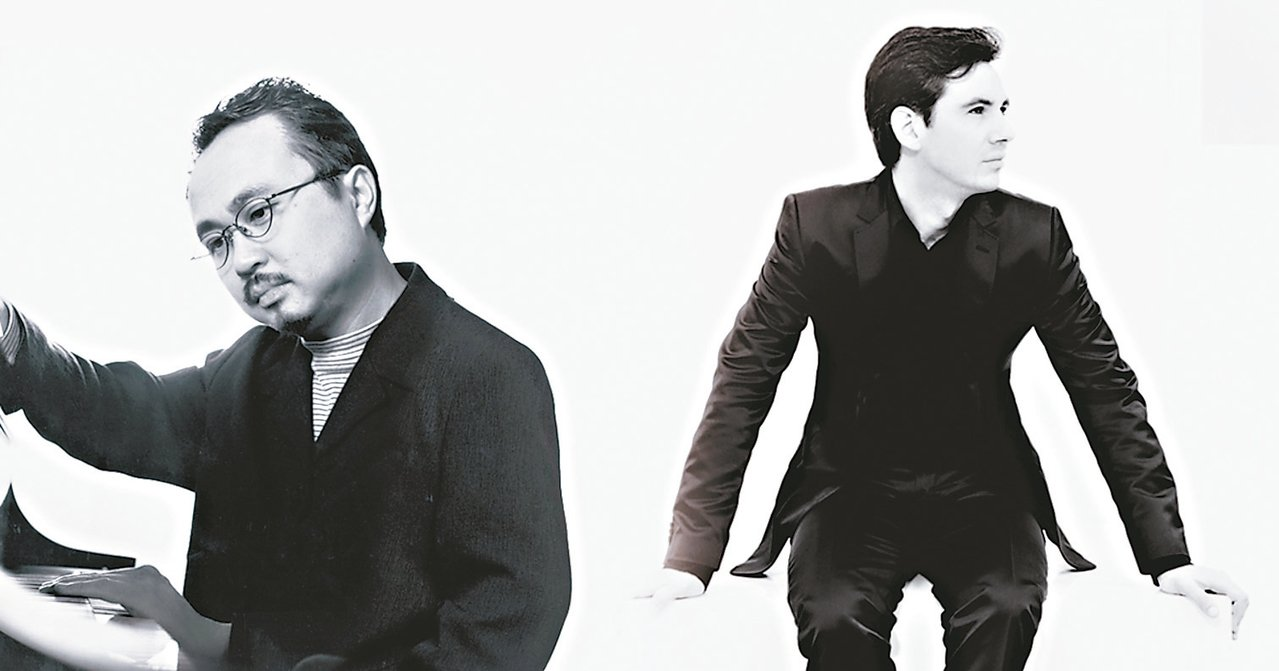 鋼琴雙冠軍鄧泰山(左)與史岱費爾德(右),早鳥套票開賣。 圖/聯合數位文創提供