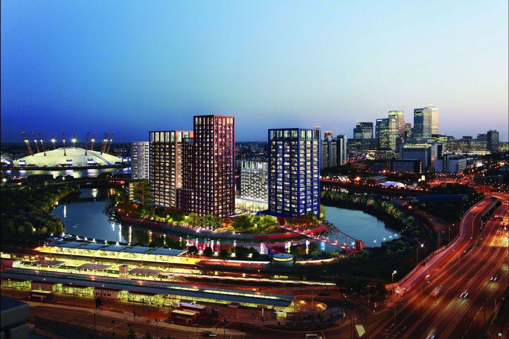 倫敦City Island半島花園住宅案結合大膽的建築和開拓性的景觀設計,營造了...