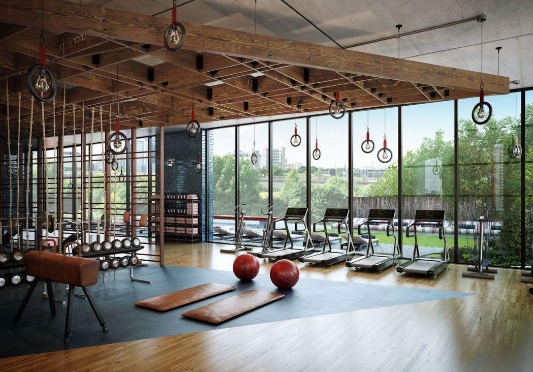 寬敞設備齊全的健身中心 瑞普萊坊/提供