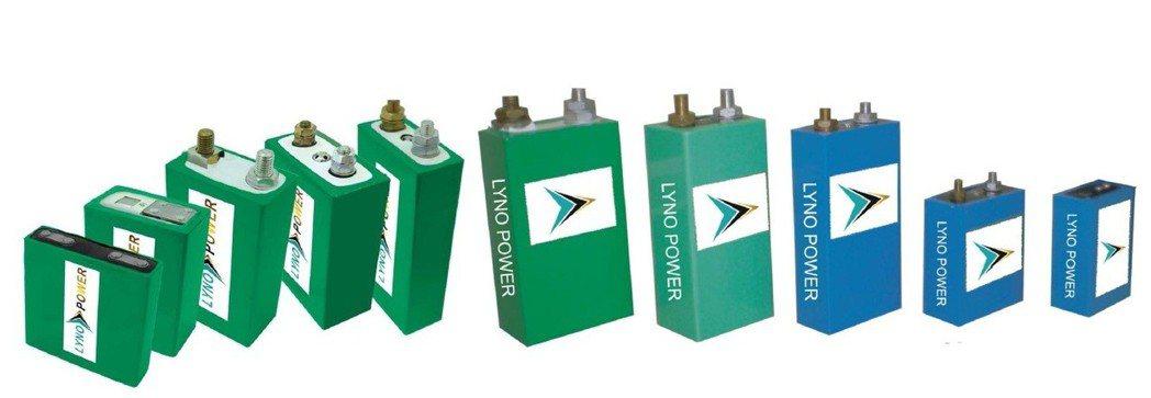 蘭陽能源鋰鐵電池電芯系列。 蘭陽能源/提供