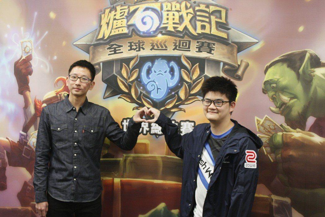台灣選手 SamuelTsao(左)、Tom60229(右)將出征《爐石戰記》H...