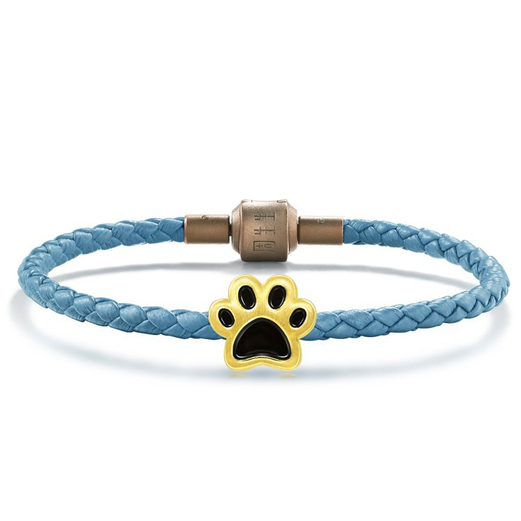 點睛品Charme「可愛系列」狗狗足印足金串飾附手環,6,200元。圖/點睛品提...