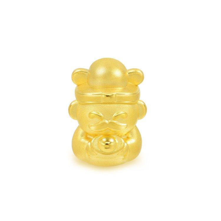 點睛品Charme「文化祝福系列」財神足金串飾,7,500元。圖/點睛品提供