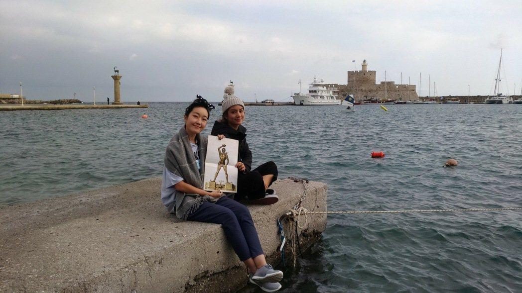 巴鈺、莎莎遊土耳其。圖/TVBS提供