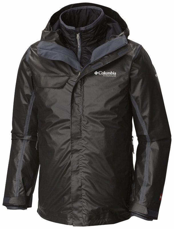 Columbia鈦系列鈦三合一男裝防水保暖外套,約13,800元。圖/俊嶽提供