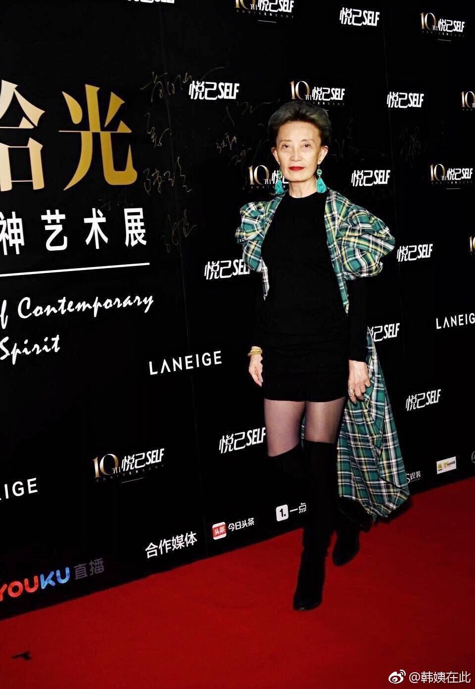 韓穎華在大陸有金牌模特兒教母之稱。圖/摘自微博