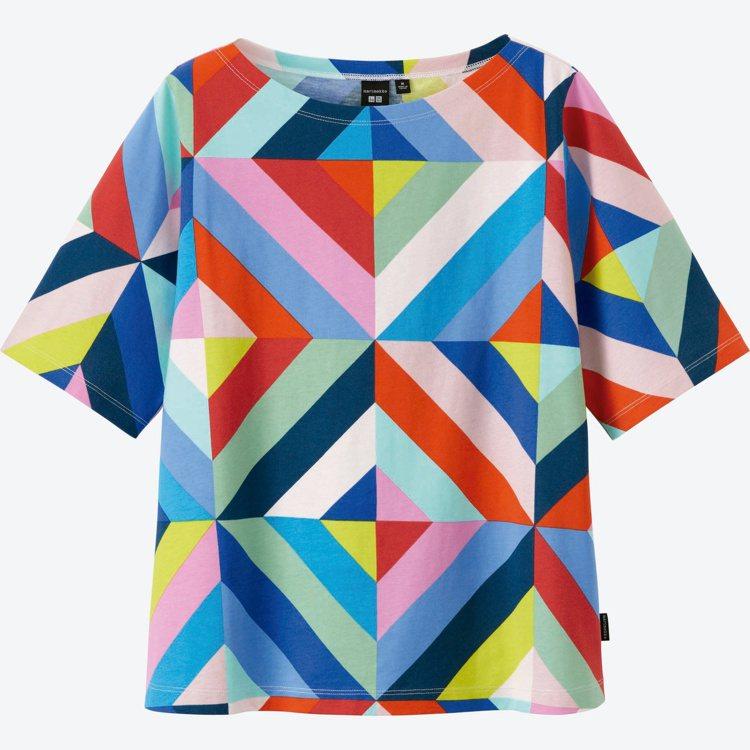 Marimekko× UNIQLO系列繽紛上衣。圖/Marimekko提供