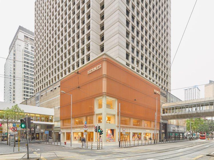新開幕的愛馬仕香港中環太子專門店,由御用RDAI建築師事務所設計。圖/愛馬仕提供