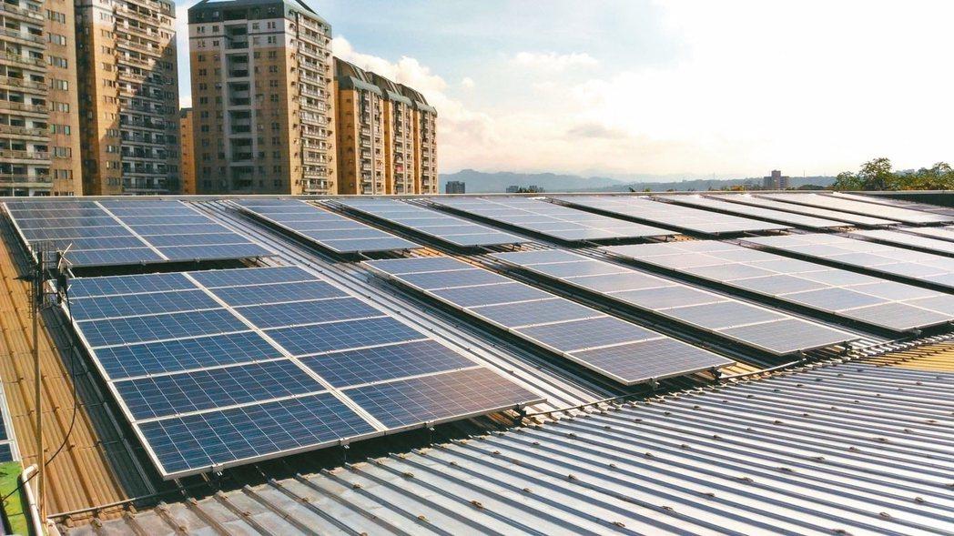 桃園市訂自治條例,規定用電超過五千瓩的用電大戶,需自備百分之十再生能源,但裝設率...