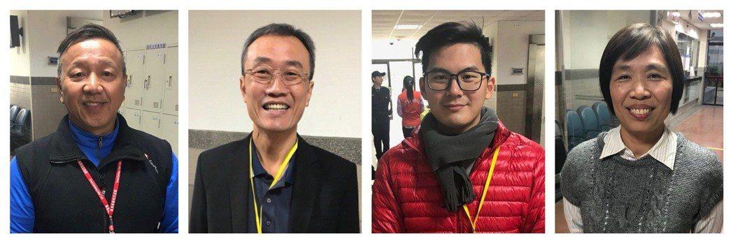 國民法官(左起)57歲賴國榮、57歲鄭竹軒、28歲蔣以秦、52歲莫華珍。 記者林...