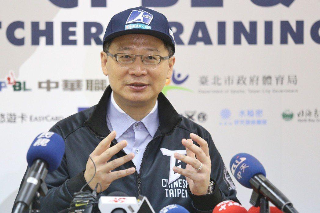 吳志揚可望連任中職會長。 聯合報系資料照